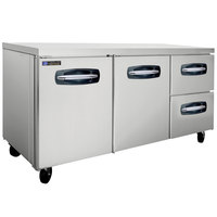 Master-Bilt MBUR72A-002 72 inch Fusion Undercounter Refrigerator with 2 Left Doors and 2 Right Drawers
