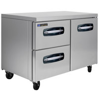 Master-Bilt MBUR48A-003 48 inch Fusion Undercounter Refrigerator with 1 Right Door and 2 Left Drawers