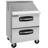 Master-Bilt MBSMP27-12A-001 28 inch 2 Drawer Mega Top Refrigerated Sandwich Prep Table