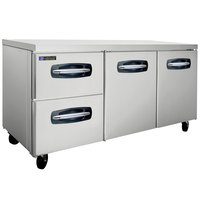 Master-Bilt MBUR72A-003 72 inch Fusion Undercounter Refrigerator with 2 Right Doors and 2 Left Drawers