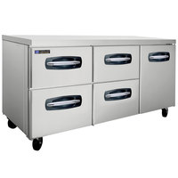 Master-Bilt MBUR72A-007 72 inch Fusion Undercounter Refrigerator with 1 Right Door and 4 Left Drawers
