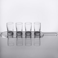 Core Pub Taster Beer Flight Set - 4 Pub Taster Glasses with Acrylic Paddle