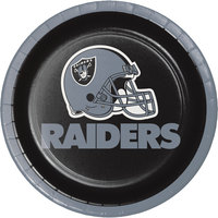 Creative Converting 419523 Oakland Raiders 7 inch Luncheon Paper Plate - 96/Case