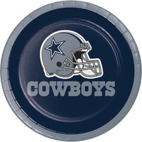 Creative Converting 419509 Dallas Cowboys 7 inch Luncheon Paper Plate - 96/Case