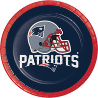 Creative Converting 410519 New England Patriots 7 inch Luncheon Paper Plate - 96/Case
