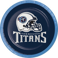 Creative Converting 419531 Tennessee Titans 7 inch Luncheon Paper Plate - 96/Case