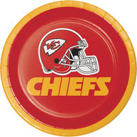 Creative Converting 419516 Kansas City Chiefs 7 inch Luncheon Paper Plate - 96/Case