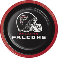 Creative Converting 419502 Atlanta Falcons 7 inch Luncheon Paper Plate - 96/Case