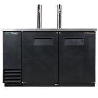 True TDD-2-HC 59 inch Single Tap Kegerator Beer Dispenser - (2) 1/2 Keg Capacity