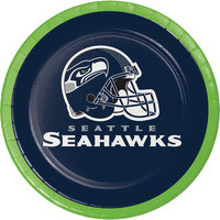 Creative Converting 419528 Seattle Seahawks 7 inch Luncheon Paper Plate - 96/Case