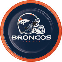 Creative Converting 419510 Denver Broncos 7 inch Luncheon Paper Plate - 96/Case