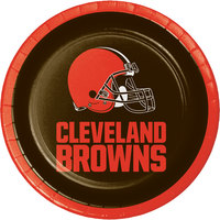Creative Converting 316659 Cleveland Browns 7 inch Luncheon Paper Plate - 96/Case