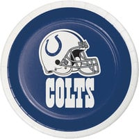 Creative Converting 419534 Indianapolis Colts 7 inch Luncheon Paper Plate - 96/Case