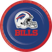 Creative Converting 419504 Buffalo Bills 7 inch Luncheon Paper Plate - 96/Case