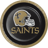 Creative Converting 419520 New Orleans Saints 7 inch Luncheon Paper Plate - 96/Case