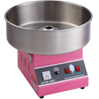 Carnival King CCM21E Cotton Candy Machine with 21 inch Stainless Steel Bowl - 110V