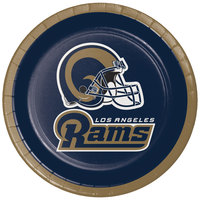 Creative Converting 321460 Los Angeles Rams 7 inch Luncheon Paper Plate - 96/Case