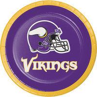 Creative Converting 419518 Minnesota Vikings 7 inch Luncheon Paper Plate - 96/Case
