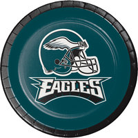 Creative Converting 419524 Philadelphia Eagles 7 inch Luncheon Paper Plate - 96/Case
