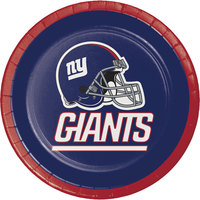 Creative Converting 419521 New York Giants 7 inch Luncheon Paper Plate - 96/Case