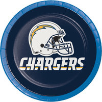 Creative Converting 419526 Los Angeles Chargers 7 inch Luncheon Paper Plate - 96/Case