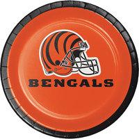 Creative Converting 419507 Cincinnati Bengals 7 inch Luncheon Paper Plate - 96/Case