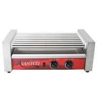 Avantco RG1818 18 Hot Dog Roller Grill with 7 Rollers - 120V, 590W