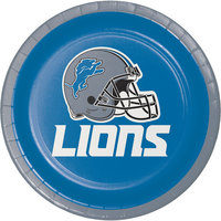 Creative Converting 419511 Detroit Lions 7 inch Luncheon Paper Plate - 96/Case