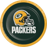 Creative Converting 419512 Green Bay Packers 7 inch Luncheon Paper Plate - 96/Case