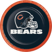 Creative Converting 419506 Chicago Bears 7 inch Luncheon Paper Plate - 96/Case