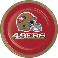 Creative Converting 419527 San Francisco 49ers 7 inch Luncheon Paper Plate - 96/Case