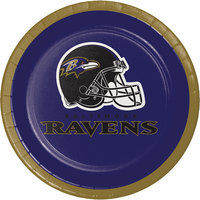 Creative Converting 419503 Baltimore Ravens 7 inch Luncheon Paper Plate - 96/Case