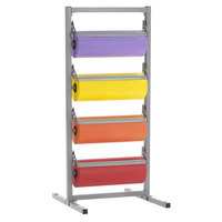 Bulman T344R-12 12 inch Four Deck Tower Paper Rack with Serrated Blade