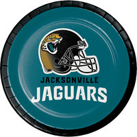 Creative Converting 419515 Jacksonville Jaguars 7 inch Luncheon Paper Plate - 96/Case