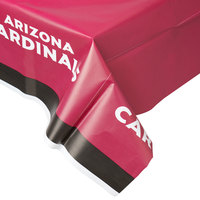 Creative Converting 729501 Arizona Cardinals 54 inch x 102 inch Plastic Table Cover - 12/Case