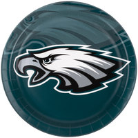 Creative Converting 429524 Philadelphia Eagles 9 inch Paper Dinner Plate - 96/Case