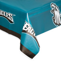 Creative Converting 729524 Philadelphia Eagles 54 inch x 102 inch Plastic Table Cover - 12/Case