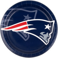 Creative Converting 420519 New England Patriots 9 inch Paper Dinner Plate - 96/Case