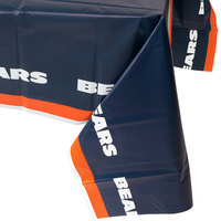 Creative Converting 729506 Chicago Bears 54 inch x 102 inch Plastic Table Cover - 12/Case