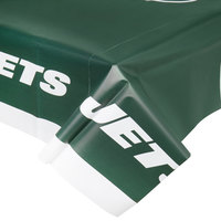 Creative Converting 729522 New York Jets 54 inch x 102 inch Plastic Table Cover - 12/Case