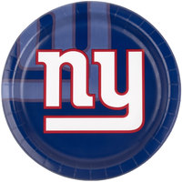 Creative Converting 429521 New York Giants 9 inch Paper Dinner Plate - 96/Case