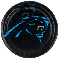 Creative Converting 429505 Carolina Panthers 9 inch Paper Dinner Plate - 96/Case