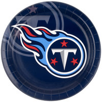 Creative Converting 429531 Tennessee Titans 9 inch Paper Dinner Plate - 96/Case