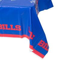 Creative Converting 729504 Buffalo Bills 54 inch x 102 inch Plastic Table Cover   - 12/Case