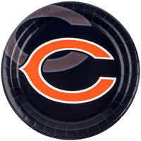 Creative Converting 429506 Chicago Bears 9 inch Paper Dinner Plate - 96/Case