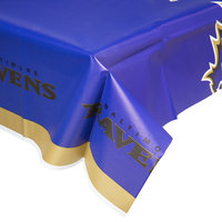 Creative Converting 729503 Baltimore Ravens 54 inch x 102 inch Plastic Table Cover - 12/Case