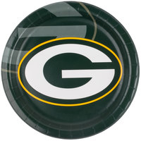Creative Converting 429512 Green Bay Packers 9 inch Paper Dinner Plate - 96/Case