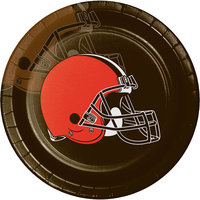 Creative Converting 316660 Cleveland Browns 9 inch Paper Dinner Plate - 96/Case