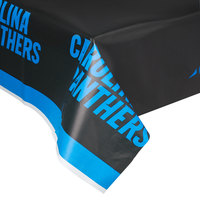 Creative Converting 729505 Carolina Panthers 54 inch x 102 inch Plastic Table Cover - 12/Case