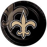 Creative Converting 335921 New Orleans Saints 9 inch Paper Dinner Plate - 96/Case